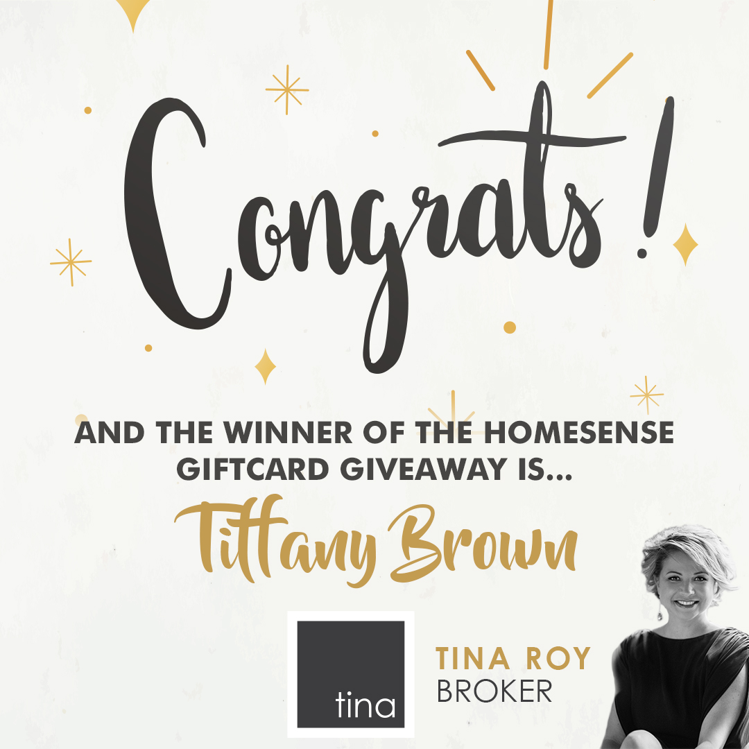 Winner of the $100 Homesense Giftcard Giveaway