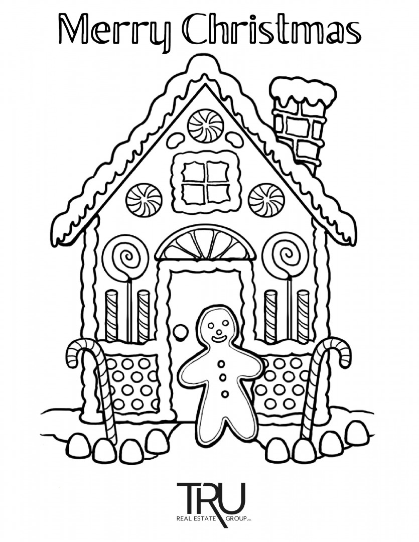 TRU Christmas Colouring Page